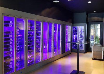 Parete Vino, vitrines à vin réglable en multi-températures